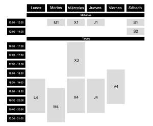 Horarios de clases de costura en madrid