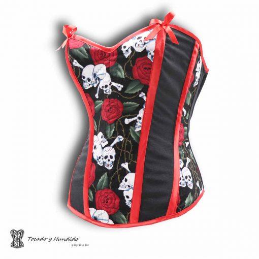 Corset calaveras y rosas, tienda corsets madrid