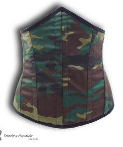 corset underbust bajo pecho militar delantero