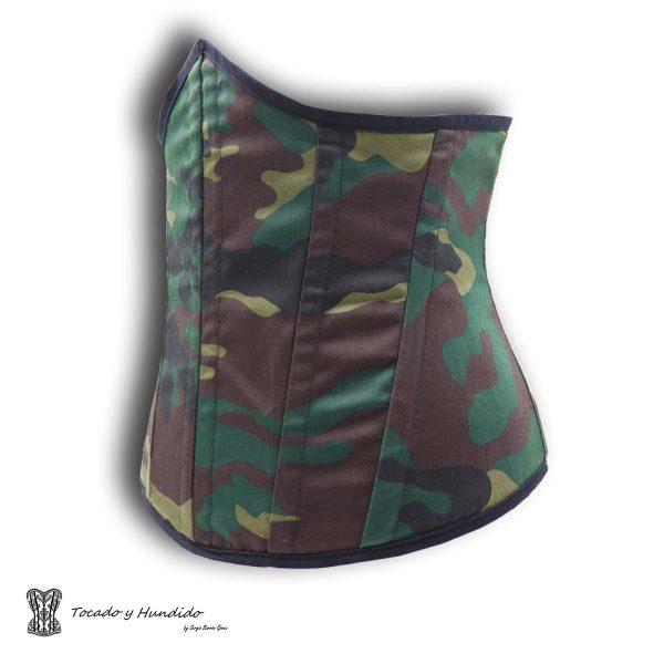 corset underbust bajo pecho militar lateral derecho