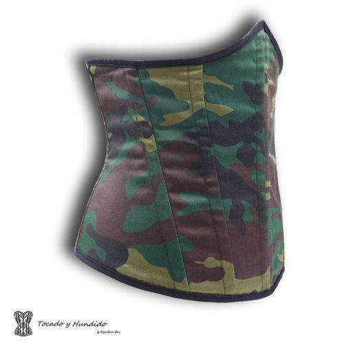 corset underbust bajo pecho militar lateral izquierdo