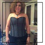 Foto clienta con corset y pantalon