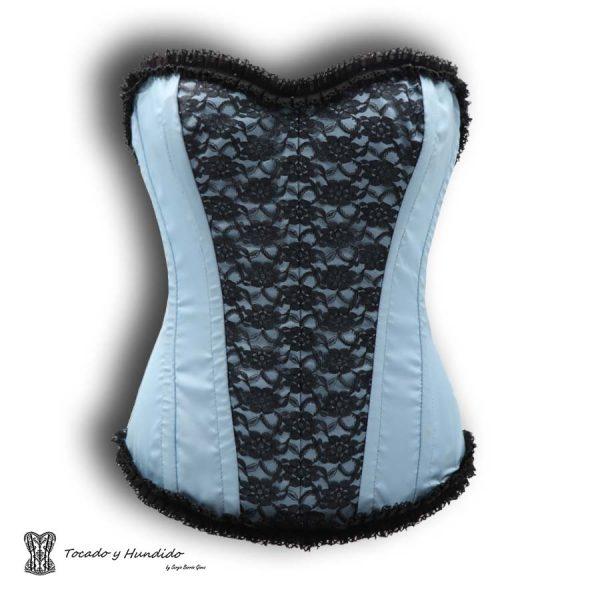 corset con encaje y puntilla