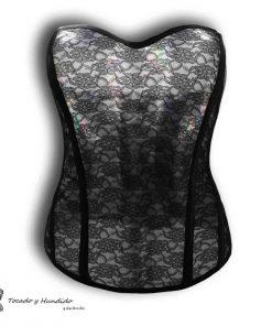 Corset transparente de encaje negro: tienda de corsets en madrid