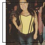 foto clienta corset amarillo y vaquero corsets tocado y hundido Madrid