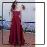 foto clienta corset y falda burdeos boda corsets madrid