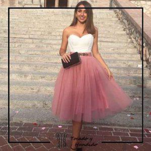 foto clienta corset y falda de tul corsets madrid