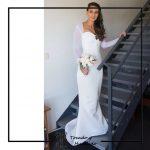 foto clienta novia con corset blanco y falda de sirena corsets madrid