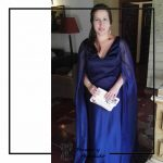 foto clienta vestido azul boda