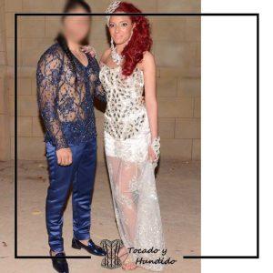 foto clienta boda gitana corset pedrería corsets madrid