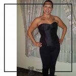 foto clienta corset negro corsets madrid