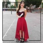 foto clienta corset rojo encaje y falda corsets madrid