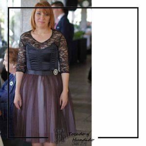 foto clienta corset y falda de tul negro corsets madrid