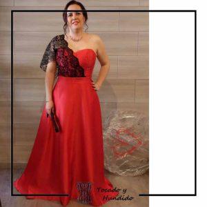 foto clienta corset y falda invitada corsets madrid