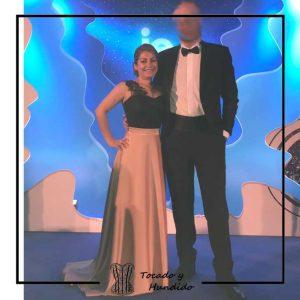 foto clienta corset y falda larga evento boda corsets madrid