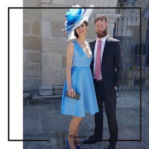 foto clienta vestido invitada a boda corsets madrid