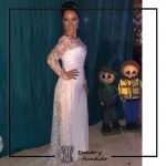 foto clienta vestido novia corset y encaje blanco corsets madrid