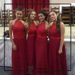 foto clienta vestido rojo