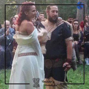 foto cliente boda vikinga corsets madrid
