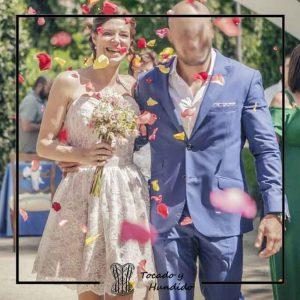 fotos clienta corset encanje y falda de encaje novia corsets madrid